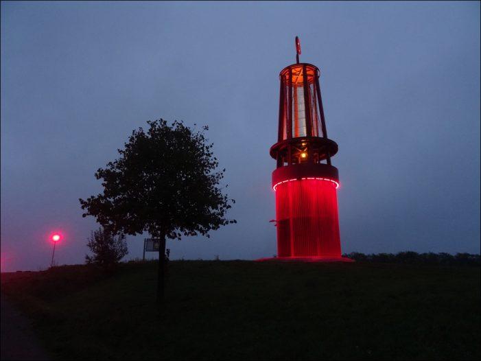 Mit dem Geleucht zum Geleucht auf der Halde Rheinpreußen in Moers