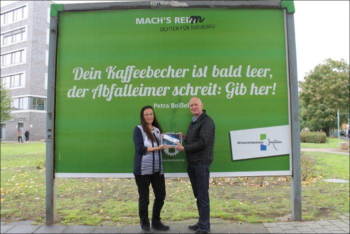 Dichten für Duisburg: Sauberkeitskampagne findet den passenden Reim