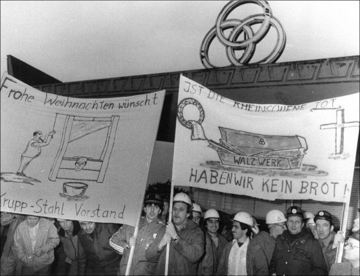 Stadtgeschichte donnerstags: Der Arbeitskampf in Rheinhausen 1987/1988 im internationalen Vergleich