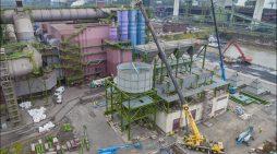 Thyssenkrupp Steel Europe: Dritte Tuchfilteranlage in Duisburg nimmt Form an