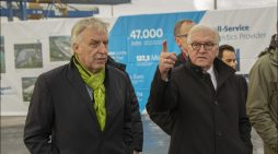 Duisburger Hafen empfing Bundespräsident: Steinmeier besuchte logport I und startport