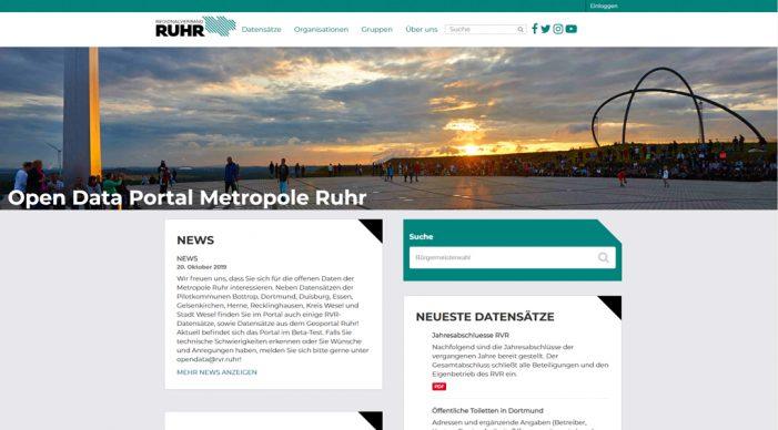 RVR startet interkommunales Open Data Portal für die Region