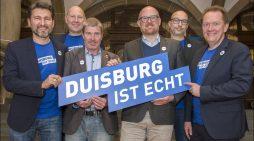Duisburg Kontor und Oberbürgermeister Sören Link präsentieren neue Wort-Bild-Marke