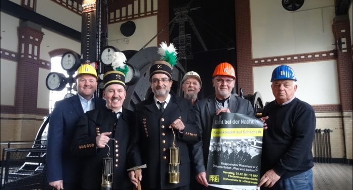 Moers: Kerzenkonzert auf Zeche Rheinpreußen Schacht IV