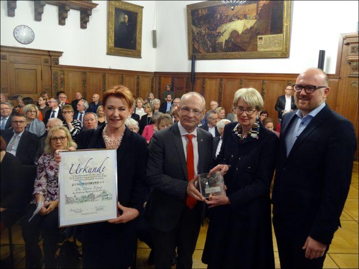 Bürgerschaftliche Vereinigung ProDuisburg verlieh den Kaisermünzenpreis 2019 an Dr. Doris König