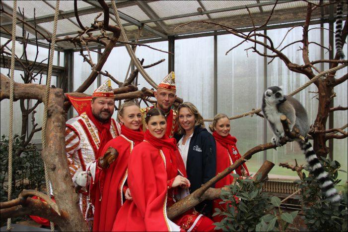 Zoo Duisburg: Prinz Sascha I. besucht affenstarke Lemurenbande