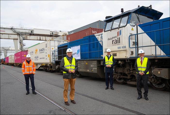 Duisburger Hafen: Regelmäßiger Zugverkehr mit Wuhan wieder aufgenommen