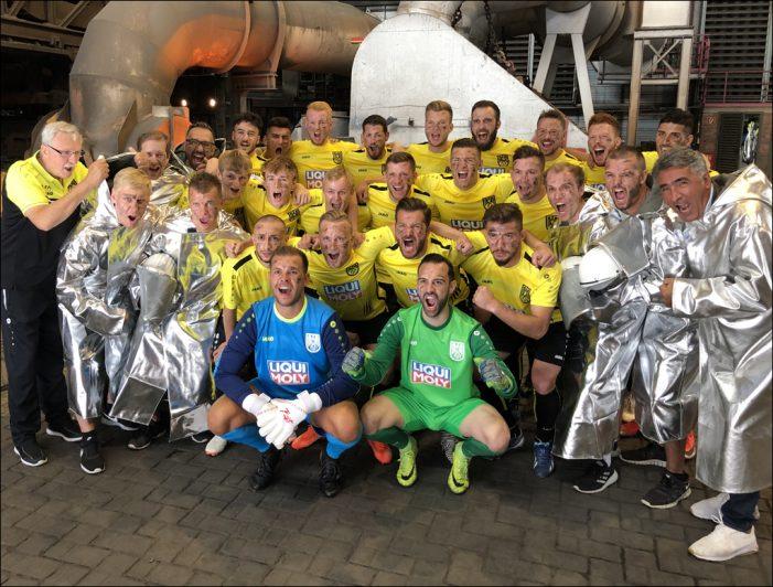 Sportfreunde Hamborn 07: Löwen spenden einen Teil ihrer Mannschaftskasse für den Verein