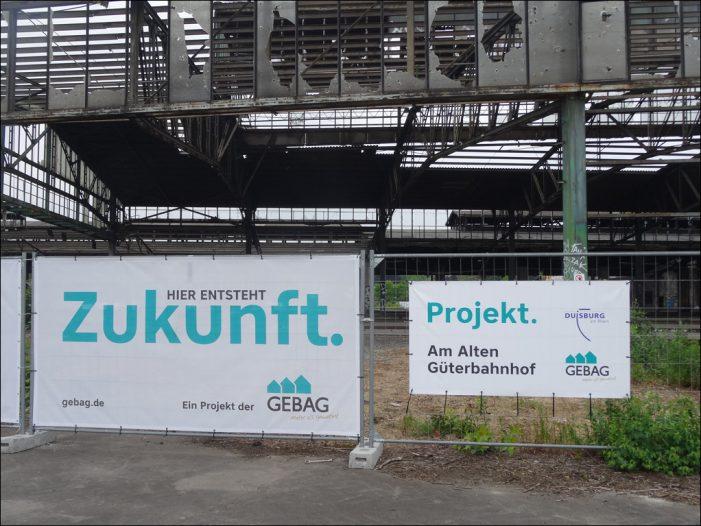 Am Alten Güterbahnhof in Duisburg: Nächster Meilenstein der Online-Bürgerbeteiligung startet