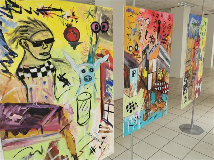 Künstler beleben in der Duisburger Altstadt die letzten Leerstände