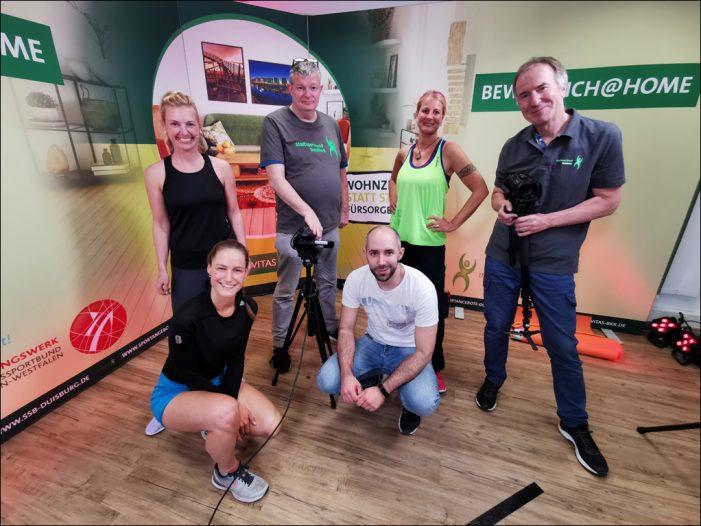 """Online-Format """"Beweg.dich@home"""": Stadtsportbund Duisburg in Kooperation mit der Novitas BKK"""