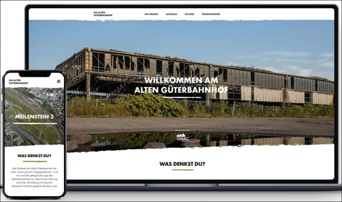 Am Alten Güterbahnhof in Duisburg: Website zur Online-Bürgerbeteiligung