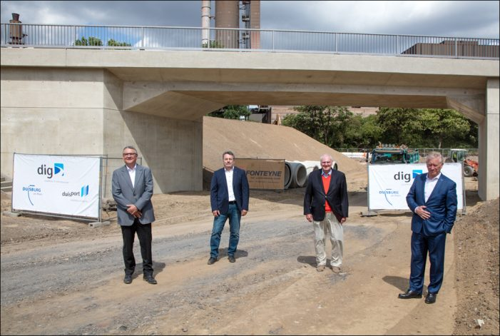 "Fortschritt im Straßenbauprojekt ""Umgehungsstraße Meiderich"""