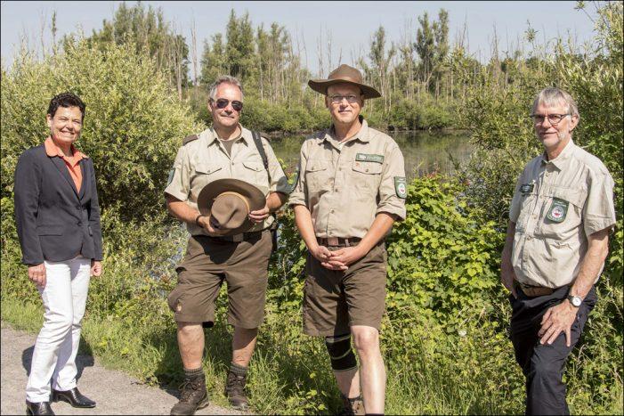 Naturschutz-Ranger probeweise in Duisburger Schutzgebieten auf Patrouille
