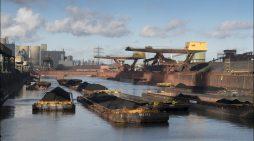 Digitalisierte Logistik: thyssenkrupp Steel in Duisburg testet App zum Tracking von Schubleichtern