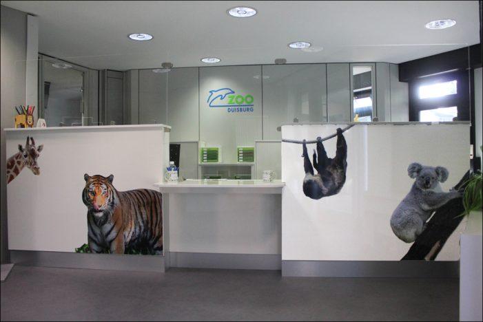Besucherservice des Zoo Duisburg in neuen Räumlichkeiten