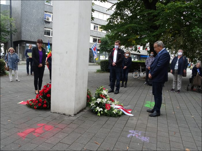 DGB Duisburg-Niederrhein: Antikriegstags-Gedenken unter Corona-Bedingungen
