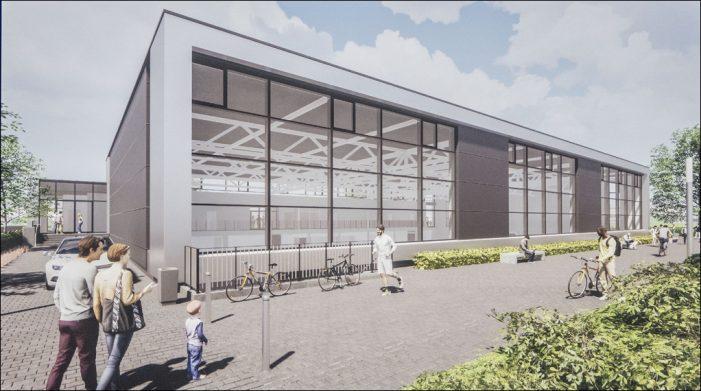 Grundsteinlegung für den Neubau der Dreifach-Sporthalle am Duisburger Steinbart-Gymnasium