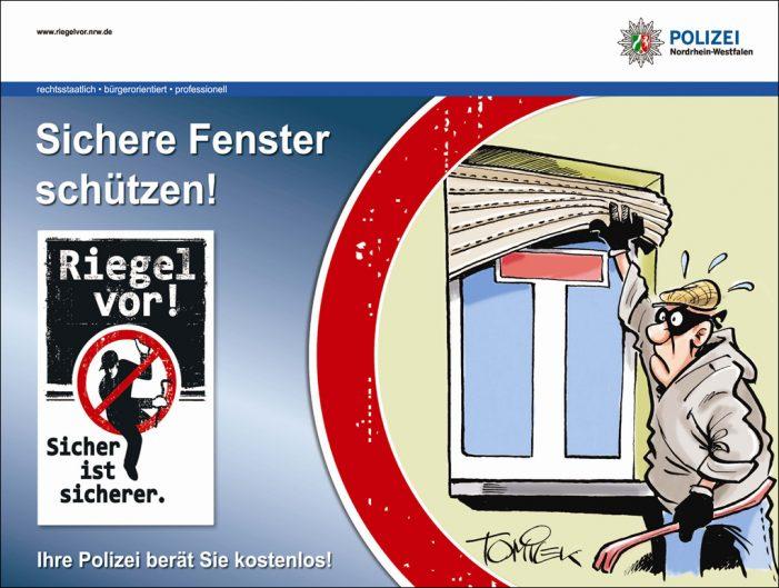 Riegel vor: Polizei Duisburg gibt coronakonform Tipps zum Einbruchsschutz
