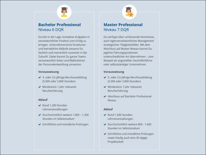 Neue Abschlussbezeichnung: Mit der Höheren Berufsbildung zum Bachelor und Master Professional