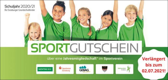 Stadtsportbund Duisburg: Sportgutscheine behalten ihre Gültigkeit!