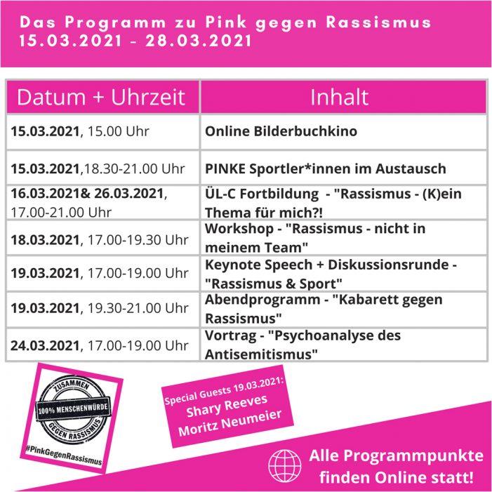 """""""Pink gegen Rassismus"""": Stadtsportbund Duisburg präsentiert zahlreiche Angebote"""