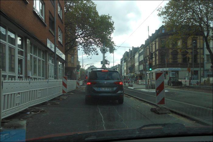 Aufnahmefahrten im Stadtgebiet Duisburg durch die Firma Cyclomedia