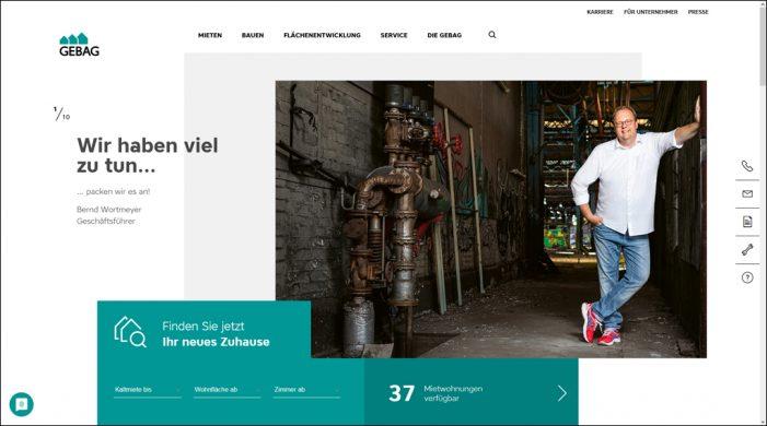 Duisburger Wohnungsbaugesellschaft: Überarbeite Webseite bietet neue Themen und Services