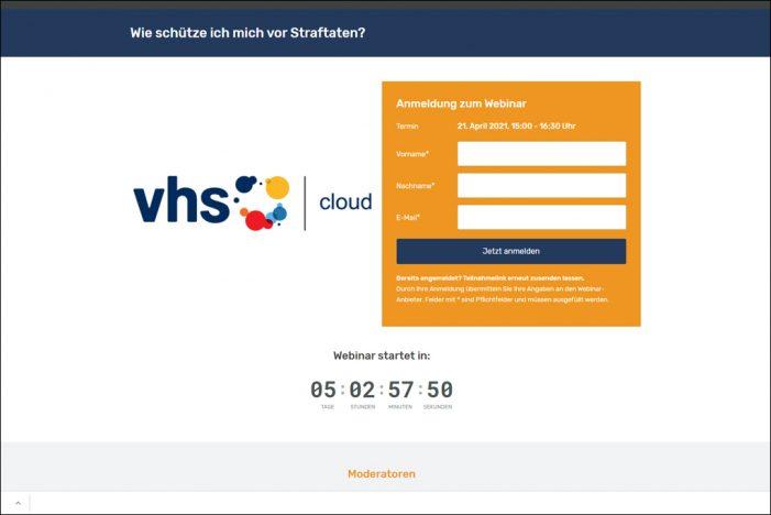 Schutz vor Straftaten: Gemeinsame Online-Veranstaltung von Polizei Duisburg und VHS am 21. April