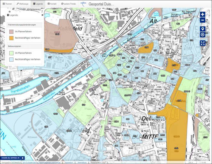 Digitale Bebauungspläne in Duisburg jetzt online