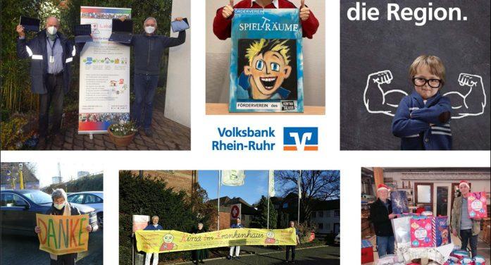 Volksbank Rhein-Ruhr spendet 66.000 Euro an gemeinnützige Projekte in der Region