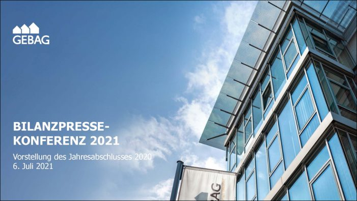 Duisburger Gebag stellte erfolgreiche Bilanz für 2020 vor