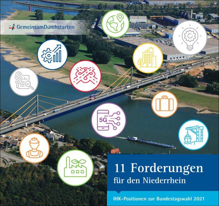 Niederrheinische IHK in Duisburg fordert mehr Unterstützung für Industrie und Fachkräfte