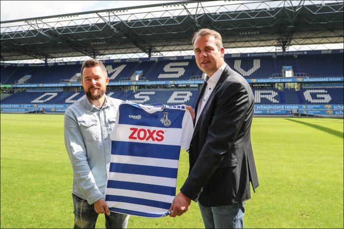 ZOXS neuer Haupt-und Trikotsponsor des MSV Duisburg