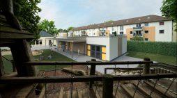 Gebag-Familienzentrum in Duisburg-Wanheimerort nimmt Formen an