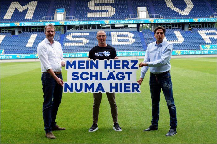 Herzen schlagen für den MSV Duisburg: Krohne verstärkt Sponsoring, Hopp neuer MSV-Botschafter