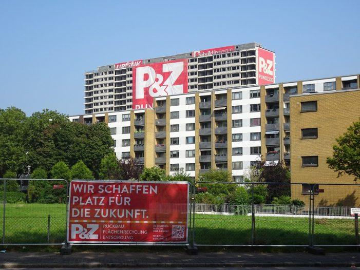 Duisburg-Homberg: Letzte Vorbereitungen vor der Sprengung des Weißen Riesen in Hochheide