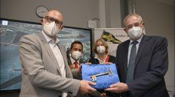 Schifferberufskolleg RHEIN in Duisburg: Eröffnung des Flachwasserfahrsimulators SANDRA II