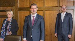 Oberbürgermeister Link begrüßt Nils Szczepanski als neuen Intendanten der Duisburger Philharmoniker
