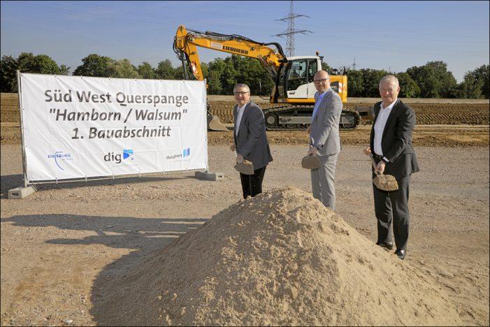 """Duisburg-Hamborn/Walsum: Straßenbauprojekt """"Süd-West Querspange"""" gestartet"""
