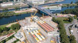 5.000 Tonnen Stahl für den Karl-Lehr-Brückenzug in Duisburg