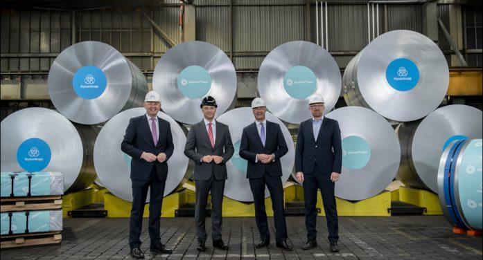 bluemint®Steel aus Duisburg: thyssenkrupp Steel startet Produktion von Stählen mit verminderter CO2-Intensität